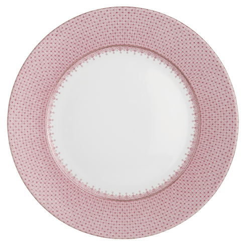 Mottahedeh  Lace Pink Lace Service Plate $135.00