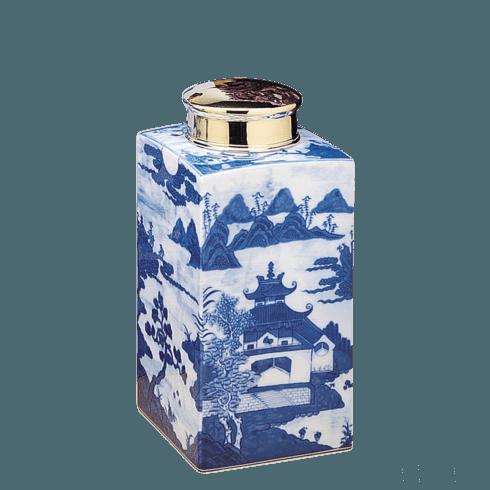$245.00 Blue Canton Tea Jar, Small