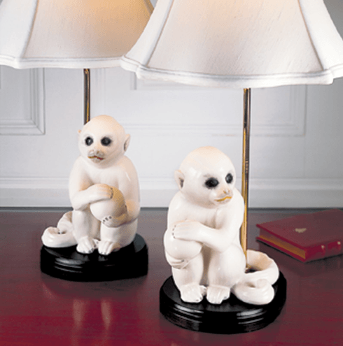 Small White Monkey Lamp, Pair collection with 1 products