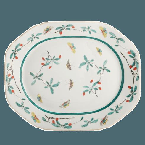 $260.00 Famille Verte Octagonal 15\'  Platter