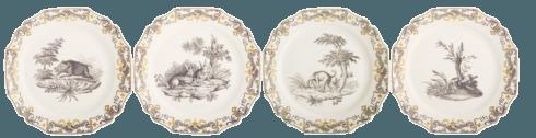 $320.00 DuPaquier Luncheon  Plate, S/4