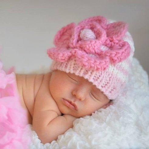 $24.00 Sm Parfait Pink Beanie Hat 0-6mos