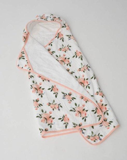 $50.00 Big Kid Cotton Hooded Towel Watercolor Roses