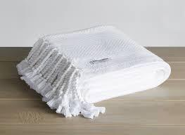 $243.00 Monhegan Cotton Throw in White
