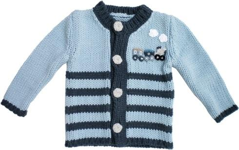 $40.00 Choo Choo Train Sweater 6-12mos