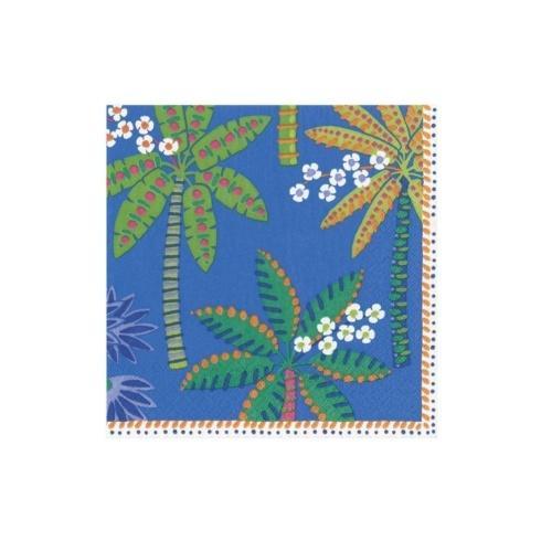 $6.95 Paradise Palms Blue Paper Cocktail Napkins
