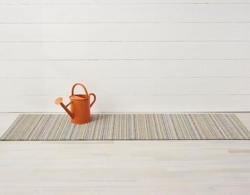 $55.00 Skinny Stripe Soft Multi Shag 18X28 Doormat