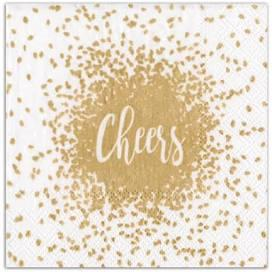 $6.95 Cheers Paper Cocktail Napkins in Gold