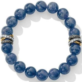 Neptune's Rings Brazil Blue Quartz Stretch Bracelet collection with 1 products