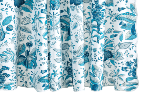 Pomegranate Prussian Blue Shower Curtain collection with 1 products