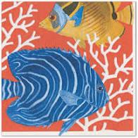 $6.95 Coral Reef Paper Cocktail Napkins
