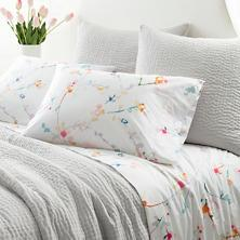 $74.00 Pair King Blossom Pillowcases