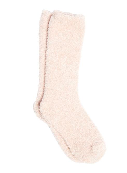 $15.00 COZYCHIC HEATHERED WOMEN\'S SOCKS/DUSTY ROSE & WHITE