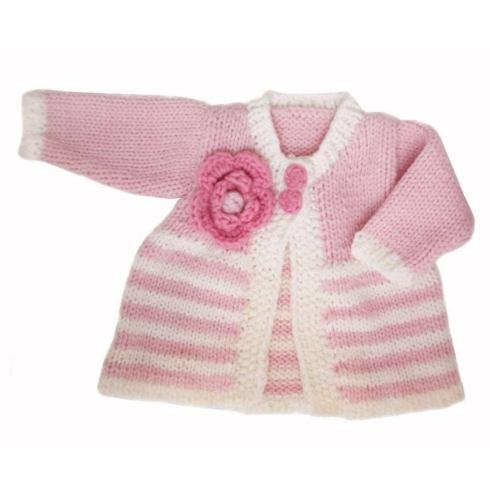 $40.00 Parfait Pink Sweater 0-6mos