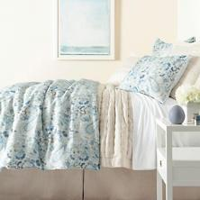 $736.00 King Ines Blue Linen Duvet Cover