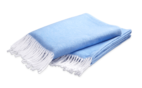 Pezzo Throw Azure collection with 1 products