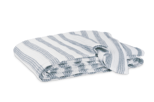 $336.00 Cabana King White/Blue Blanket