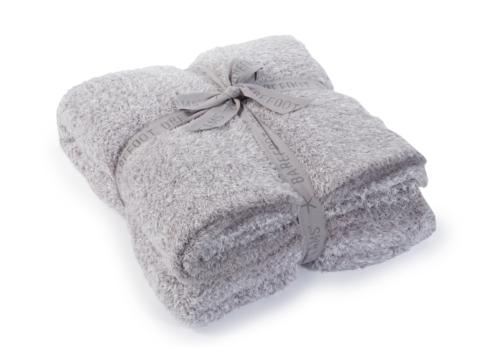 $165.00 COZYCHIC HEATHERED THROW/ DOVE GREY & WHITE
