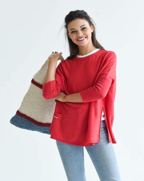 $89.00 Catalina Sweater/POPPY