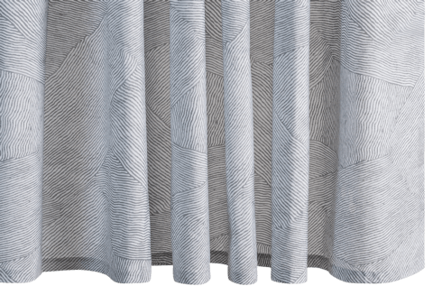$225.00 Burnett Nickel Shower Curtain