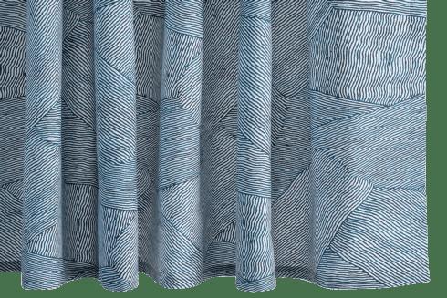$225.00 Burnett Navy Shower Curtain
