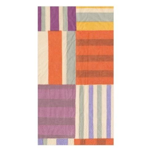 $8.95 Striped Patchwork Paper Guest Towels