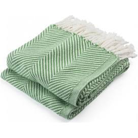 $243.00 Monhegan Cotton Throw in White/SugarSnap