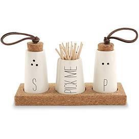 $25.00 Salt Pepper & Toothpick Holde Set