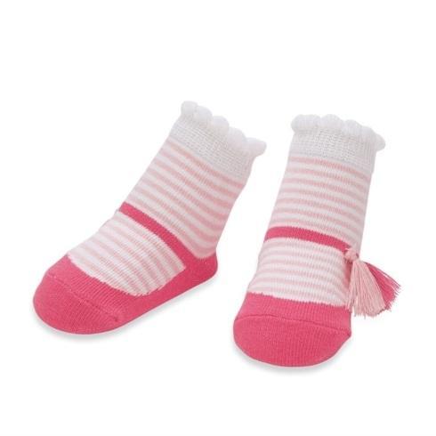 $8.95 Pink Stripe Tassel Sock