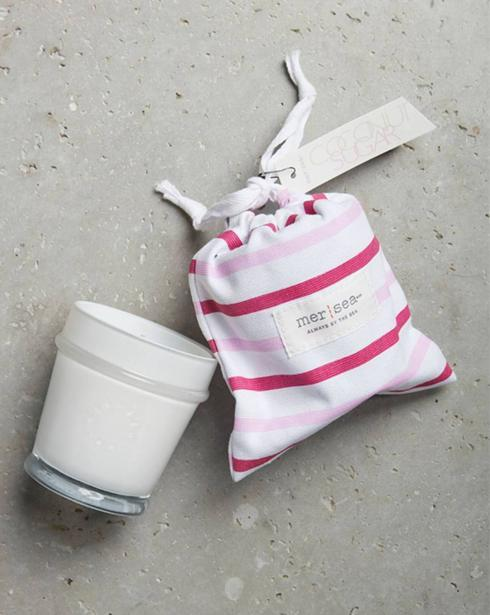 $28.00 Coconut Sugar Striped Bag Candle