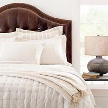 $542.00 Queen Brussels Natural Quilt