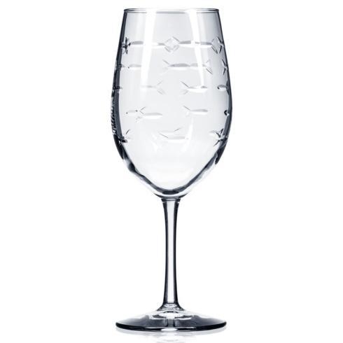 $18.00 School Of Fish Red Wine Glass 18oz.