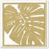 $6.95 Gold Palm Leaves Paper Cocktail Napkins