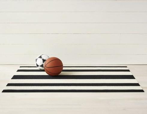 $55.00 Bold Stripe Black/White 18X28 Doormat