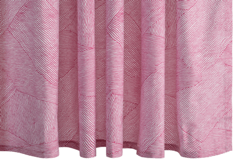 $225.00 Burnett Berry Shower Curtain
