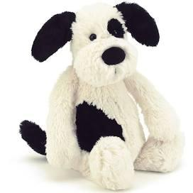 $22.00 Bashful Black & Cream Puppy Medium