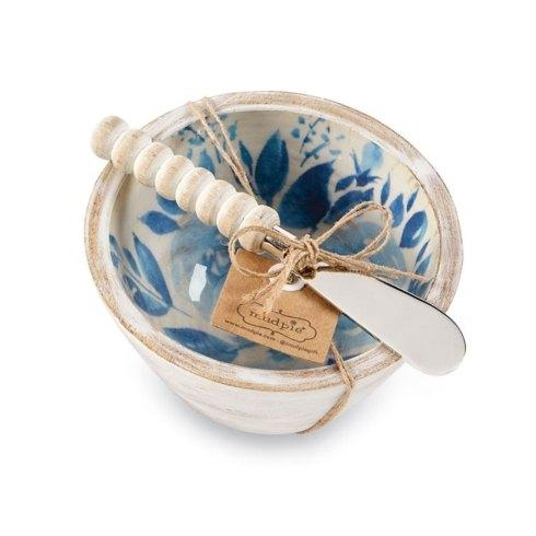 Blue Floral Dip Bowl Set collection with 1 products