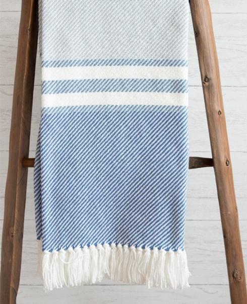 $243.00 Allagash Cotton Throw in ShoreDenim/BajaBlue