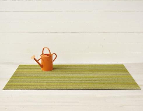$55.00 Skinny Stripe Citron Shag 18X28 Doormat