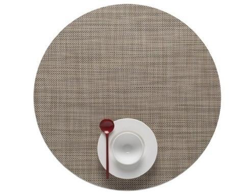 $16.25 Mini Basketweave Round Linen Placemat