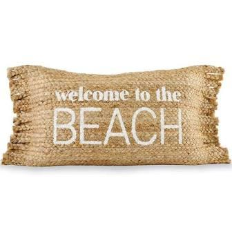 $37.00 BEACH Fringe Pillow