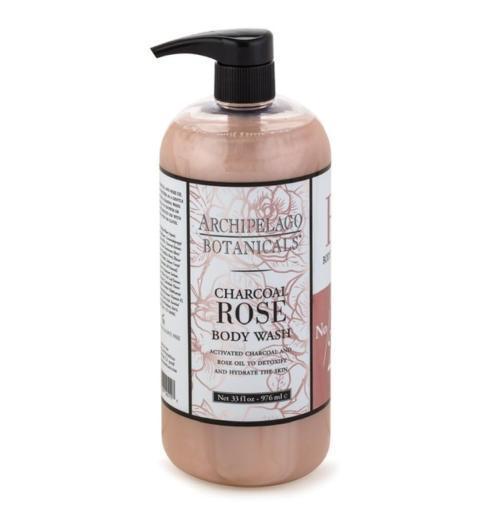 $32.00 Charcoal Rose 33oz. Body Wash