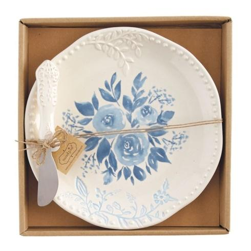 Blue Floral Cheese Set collection with 1 products