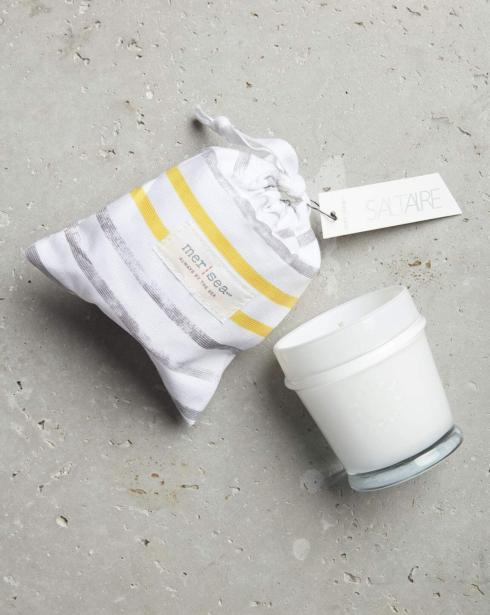 $28.00 Saltaire Striped Sandbag Candle