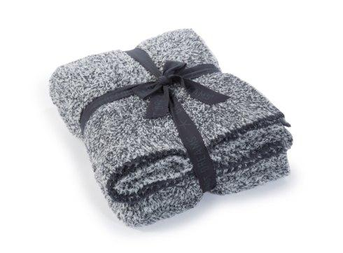 $165.00 COZYCHIC HEATHERED THROW/SLATE BLUE & WHITE