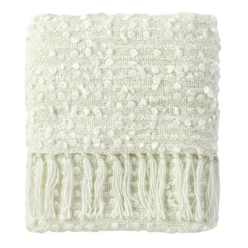 $120.00 Park White Throw