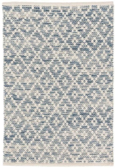 $66.00 Melange Diamond Blue 2X3 Cotton Rug