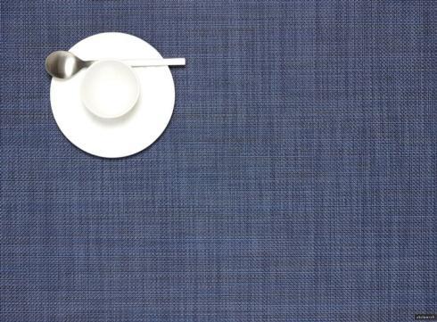 $15.00 Mini Basketweave Rect. Indigo Placemat