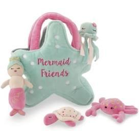 $30.00 Mermaid  Friends Plush Set
