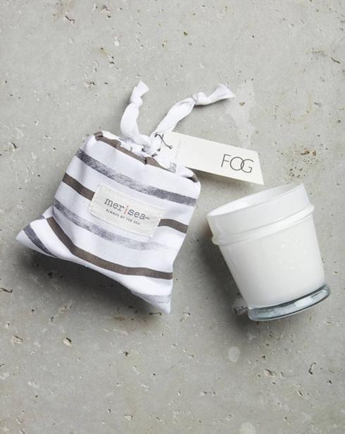 $28.00 Fog Striped Sandbag Candle